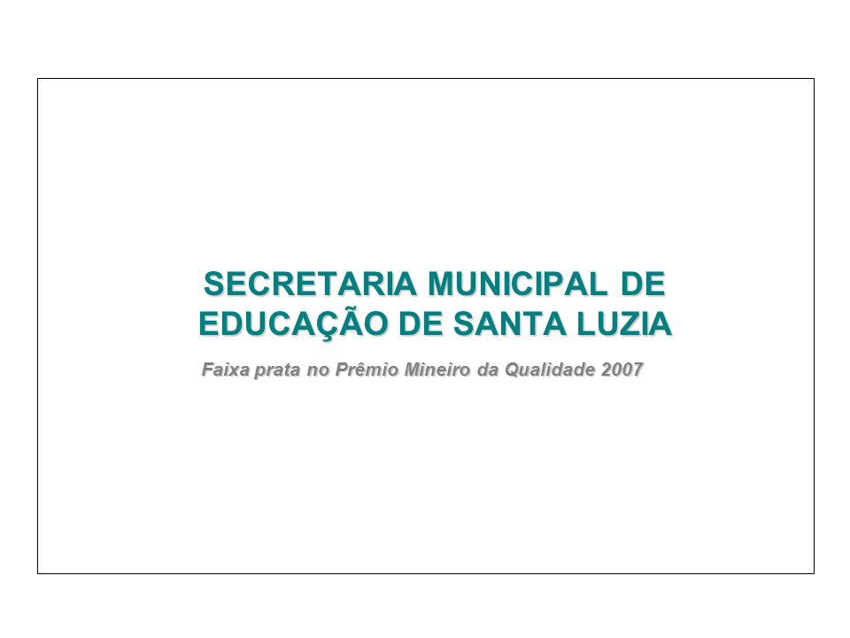 SECRETARIA MUNICIPAL DE EDUCAÇÃO DE SANTA LUZIA Faixa prata no Prêmio Mineiro da Qualidade 2007 Faixa prata no Prêmio Mineiro da Qualidade 2007