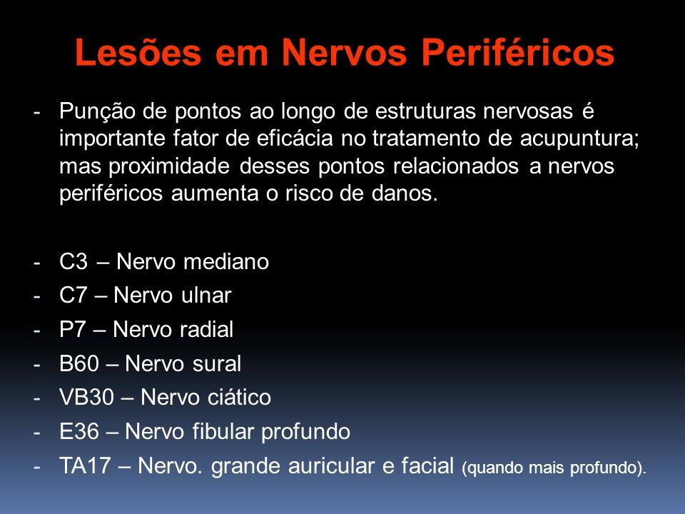 - Punção de pontos ao longo de estruturas nervosas é importante fator de eficácia no tratamento de acupuntura; mas proximidade desses pontos relaciona