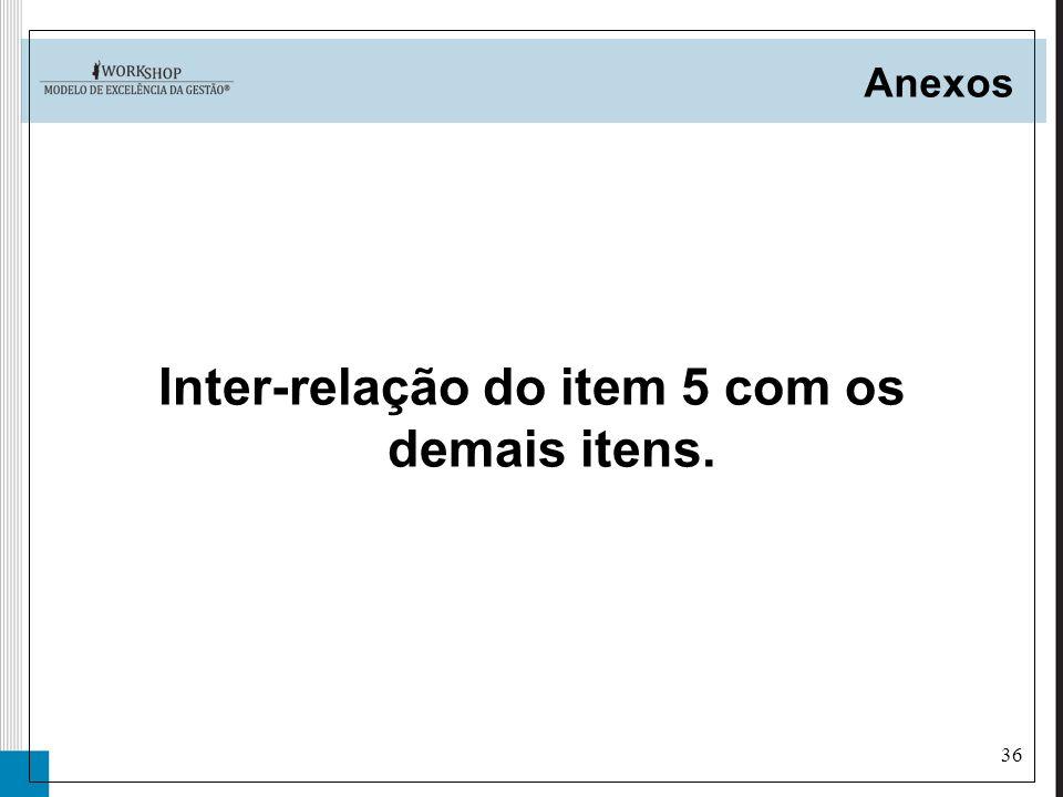 36 Anexos Inter-relação do item 5 com os demais itens.