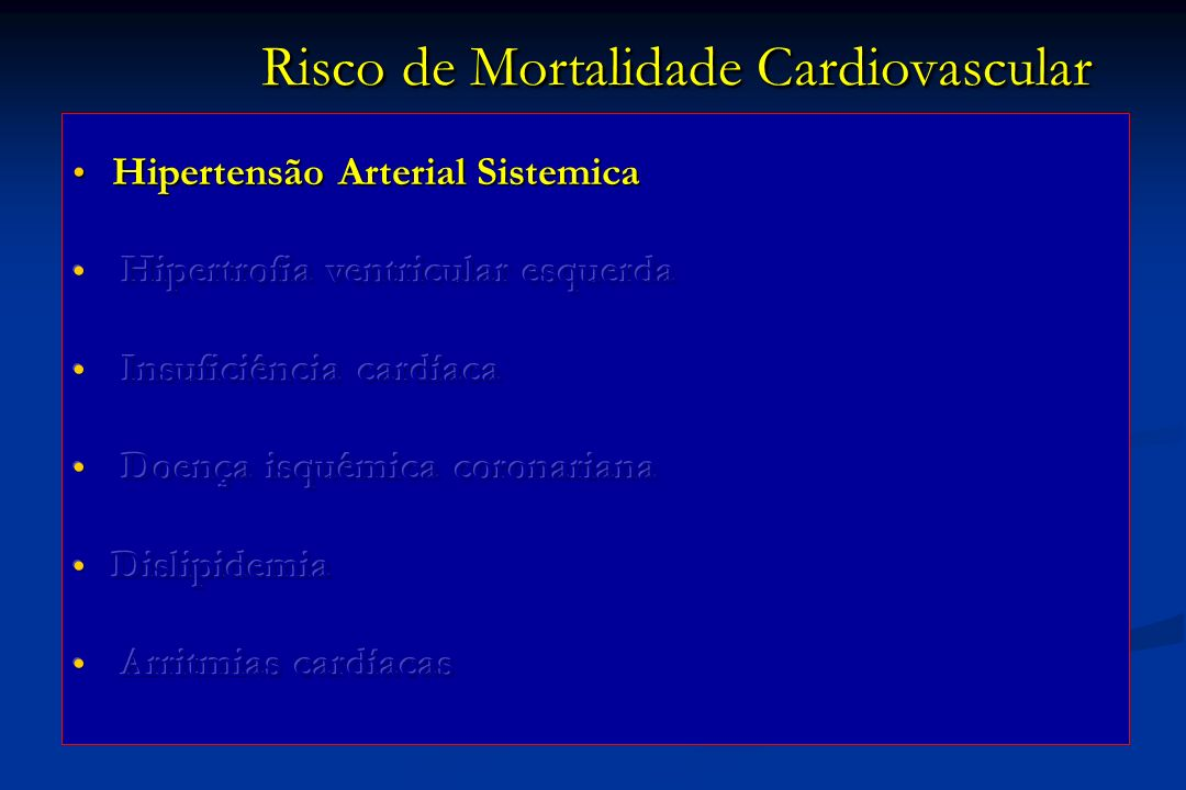 SPECT Anemia e DRC preditores da presença de Coronariopatia Cont Anemia DRC DRC + Anemia...supporting the inclusion of anemia and CKD in global risk assessment for patients with suspected CAD... Cook JR and cols Am J Cardiol 2008;102:266-71