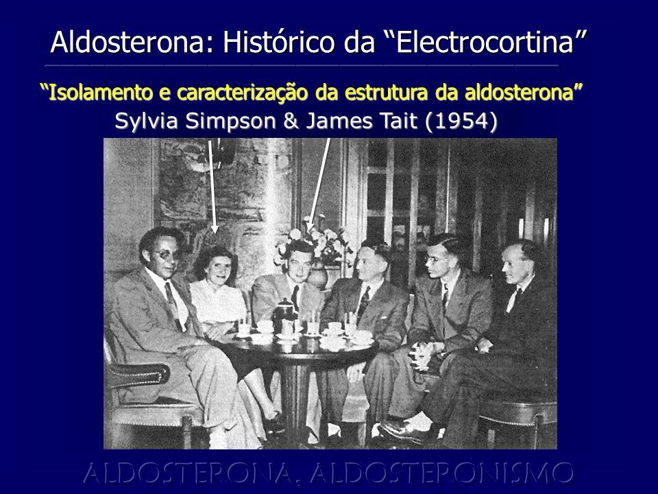 Isolamento e caracterização da estrutura da aldosterona Sylvia Simpson & James Tait (1954) Sylvia Simpson & James Tait (1954) Aldosterona: Histórico da Electrocortina
