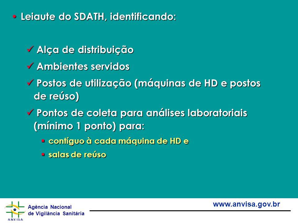 Agência Nacional de Vigilância Sanitária www.anvisa.gov.br Leiaute do SDATH, identificando: Leiaute do SDATH, identificando: Alça de distribuição Alça