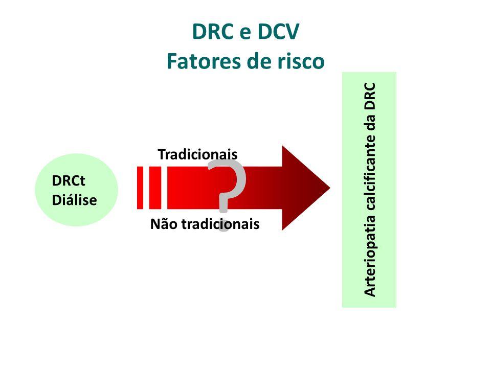 DRC e DCV Fatores de risco DRCt Diálise Arteriopatia calcificante da DRC .