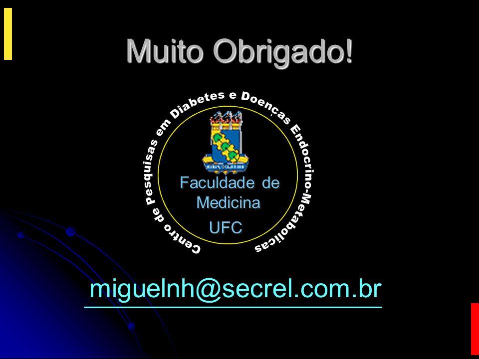 miguelnh@secrel.com.br UFC Faculdade de Medicina Faculdade de Medicina UFC C e n t r o d e P e s q u i s a s e m D i a b e t e s e D o e n c a s E n d