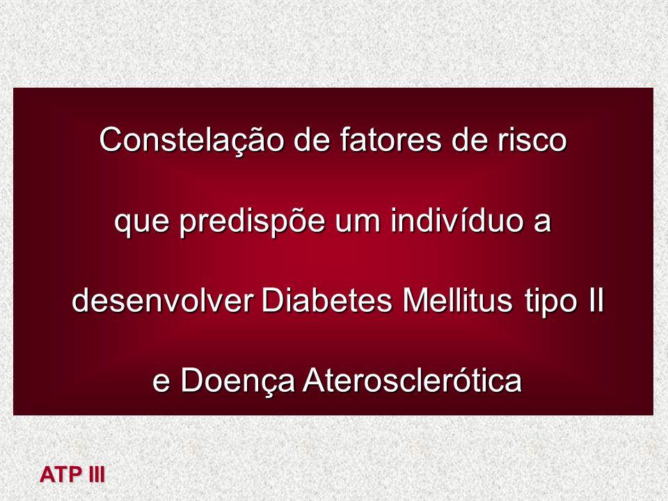 Constelação de fatores de risco que predispõe um indivíduo a desenvolver Diabetes Mellitus tipo II desenvolver Diabetes Mellitus tipo II e Doença Ater