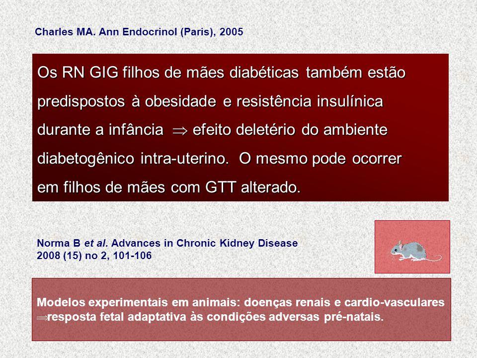 Modelos experimentais em animais: doenças renais e cardio-vasculares resposta fetal adaptativa às condições adversas pré-natais. Norma B et al. Advanc