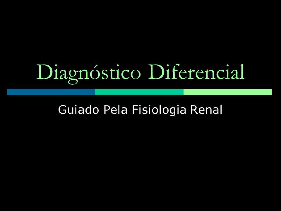 Diagnóstico Diferencial Guiado Pela Fisiologia Renal
