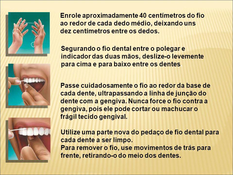 Enrole aproximadamente 40 centímetros do fio ao redor de cada dedo médio, deixando uns dez centímetros entre os dedos.