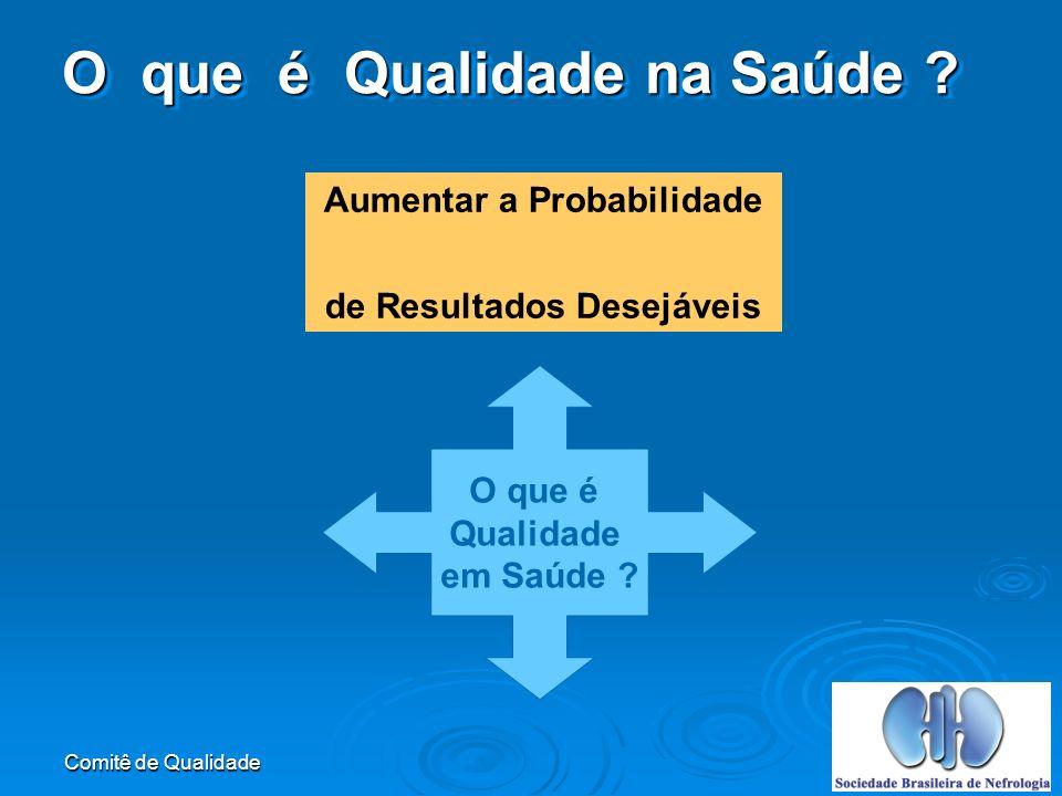 Comitê de Qualidade Aumentar a Probabilidade de Resultados Desejáveis O que é Qualidade em Saúde .