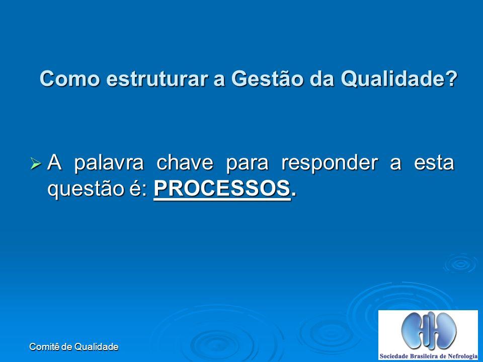 Comitê de Qualidade Como estruturar a Gestão da Qualidade.