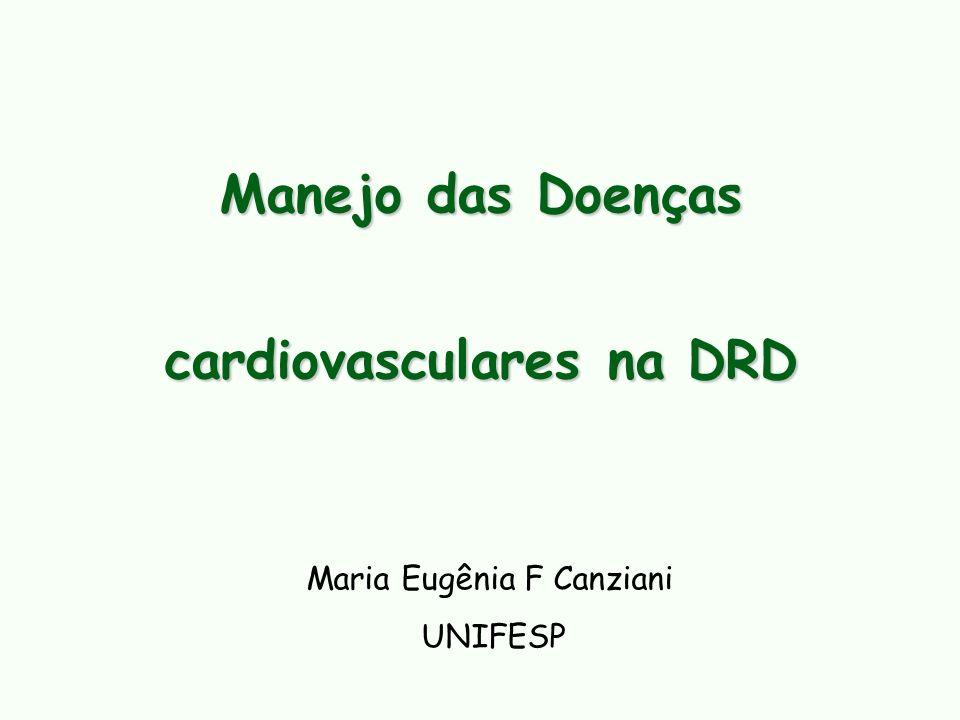 ADIPONECTINA DRC Inflamação + disfunção endotelial DCV vs. DRC