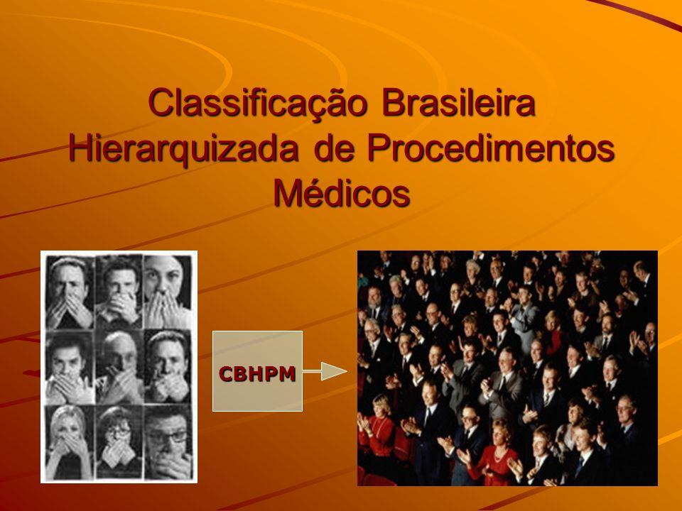Classificação Brasileira Hierarquizada de Procedimentos Médicos CBHPM