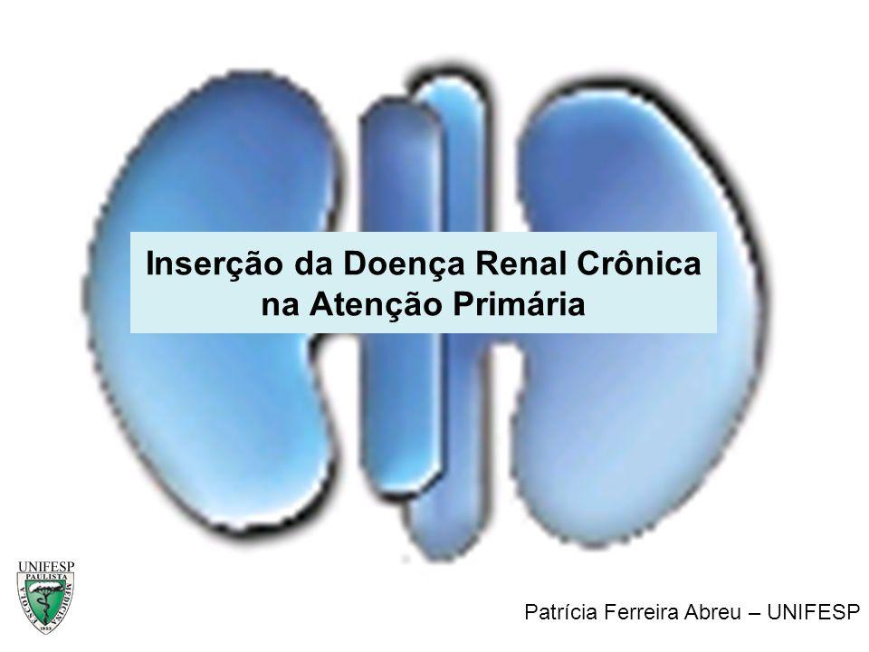Inserção da Doença Renal Crônica na Atenção Primária Patrícia Ferreira Abreu Secretaria Geral da Sociedade Brasileira de Nefrologia Patrícia Ferreira
