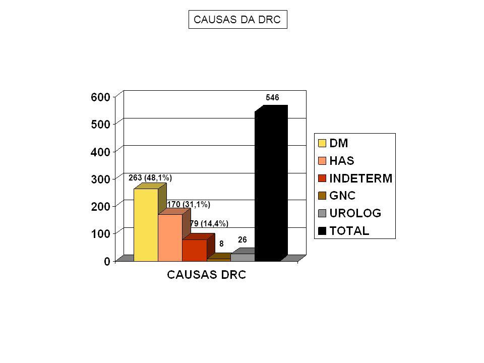 CAUSAS DA DRC 546 26 8 170 (31,1%) 263 (48,1%) 79 (14,4%)