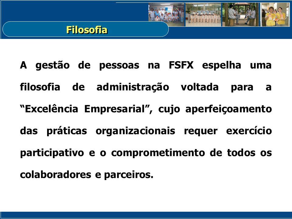A gestão de pessoas na FSFX espelha uma filosofia de administração voltada para a Excelência Empresarial, cujo aperfeiçoamento das práticas organizaci