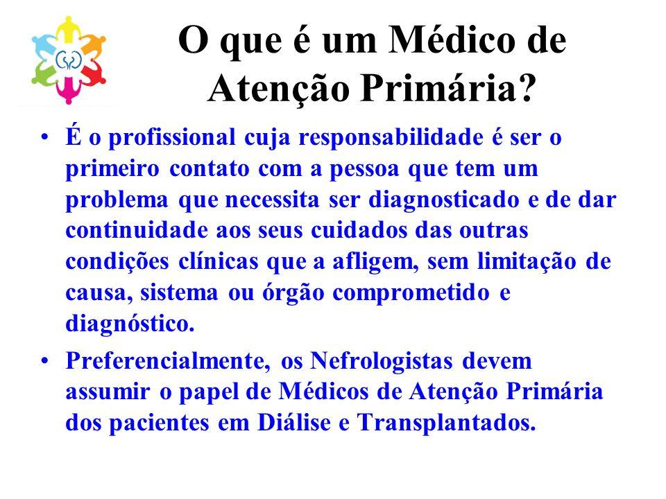 O que é um Médico de Atenção Primária? É o profissional cuja responsabilidade é ser o primeiro contato com a pessoa que tem um problema que necessita