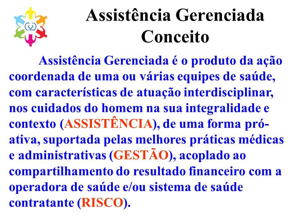 Assistência Gerenciada Conceito Assistência Gerenciada é o produto da ação coordenada de uma ou várias equipes de saúde, com características de atuaçã