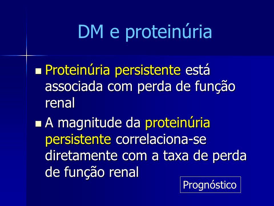 Proteinúria persistente está associada com perda de função renal Proteinúria persistente está associada com perda de função renal A magnitude da prote