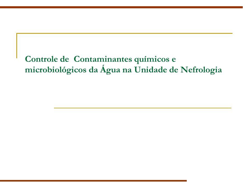 Controle de Contaminantes químicos e microbiológicos da Água na Unidade de Nefrologia