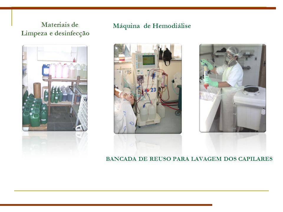 Materiais de Limpeza e desinfecção Máquina de Hemodiálise BANCADA DE REUSO PARA LAVAGEM DOS CAPILARES