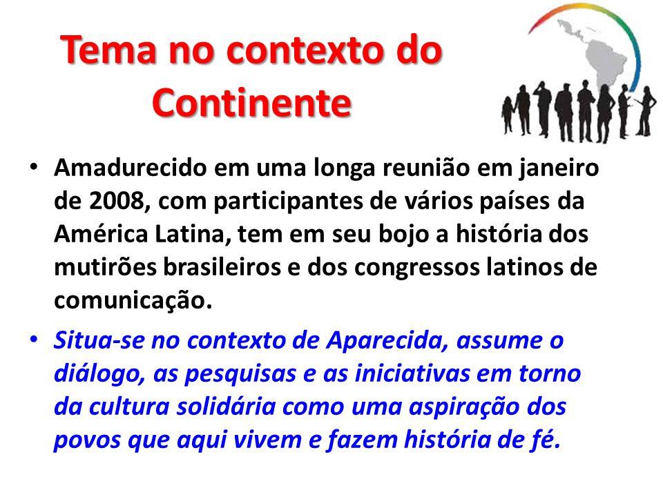 Tema no contexto do Continente Amadurecido em uma longa reunião em janeiro de 2008, com participantes de vários países da América Latina, tem em seu b