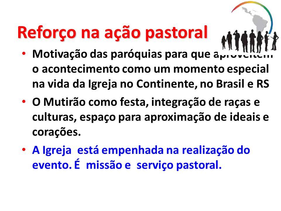 Reforço na ação pastoral Motivação das paróquias para que aproveitem o acontecimento como um momento especial na vida da Igreja no Continente, no Bras