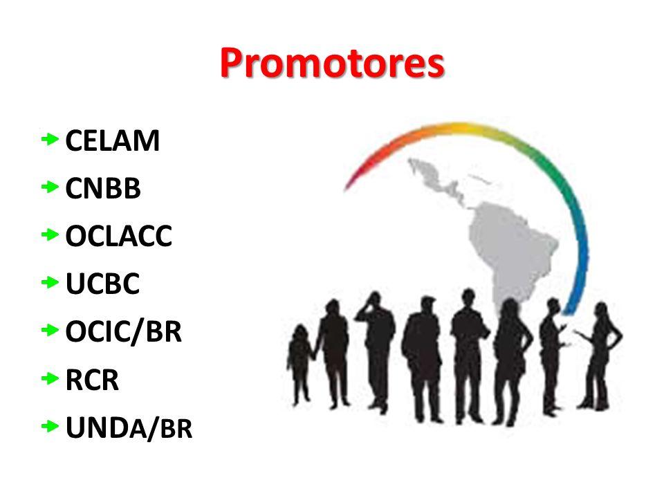 Promotores CELAM CNBB OCLACC UCBC OCIC/BR RCR UND A/BR