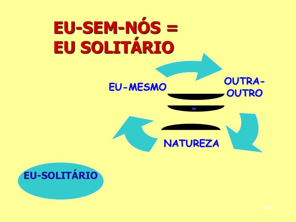 20 EU-SEM-NÓS = EU SOLITÁRIO EU-SOLITÁRIO