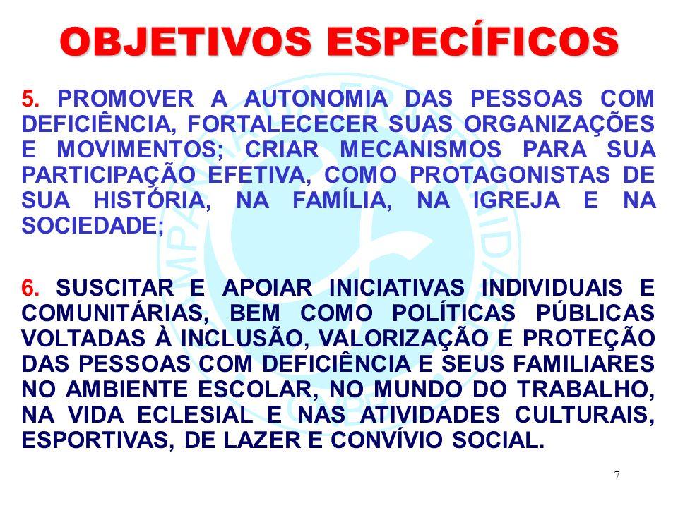 7 OBJETIVOS ESPECÍFICOS 5.