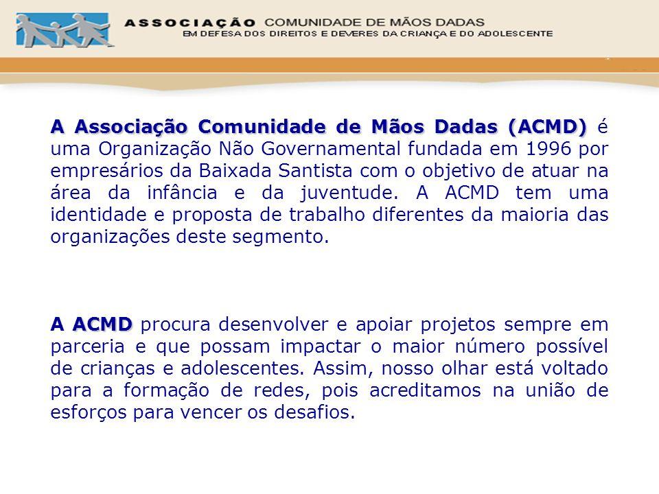 A Associação Comunidade de Mãos Dadas (ACMD) A Associação Comunidade de Mãos Dadas (ACMD) é uma Organização Não Governamental fundada em 1996 por empr