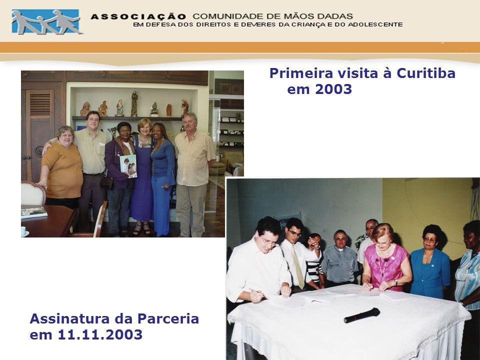 Assinatura da Parceria em 11.11.2003 Primeira visita à Curitiba em 2003