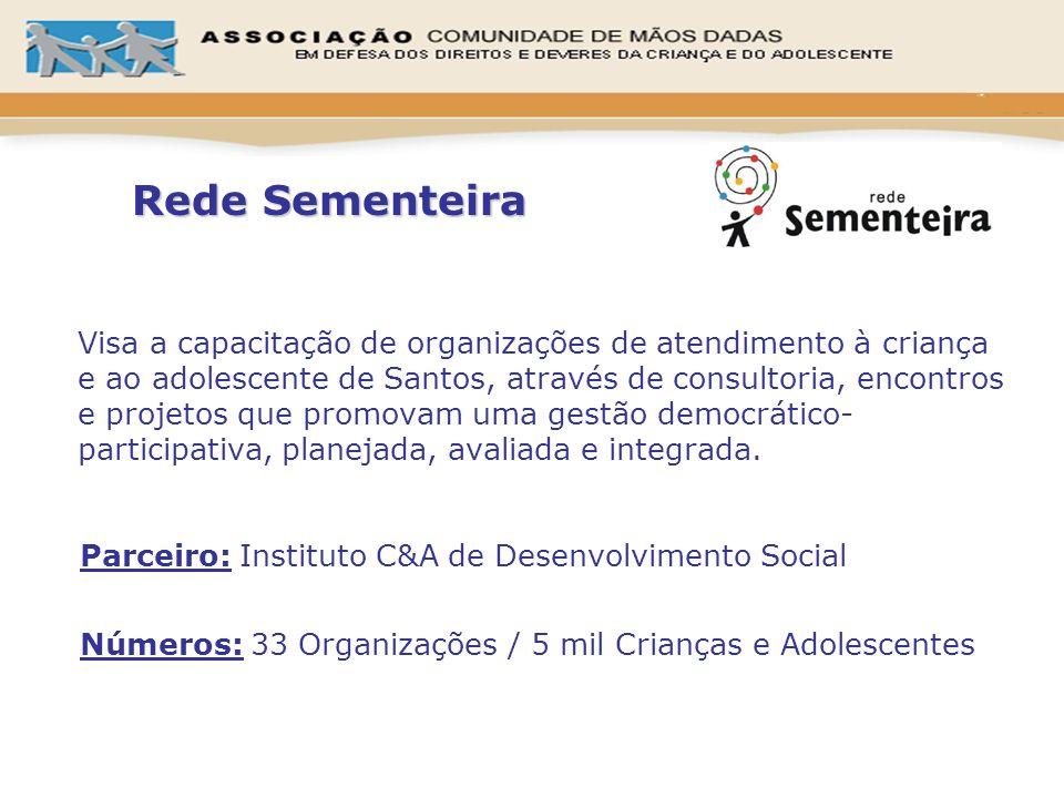 Visa a capacitação de organizações de atendimento à criança e ao adolescente de Santos, através de consultoria, encontros e projetos que promovam uma