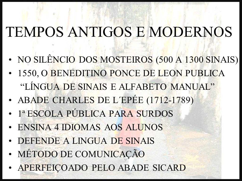 TEMPOS ANTIGOS E MODERNOS NO SILÊNCIO DOS MOSTEIROS (500 A 1300 SINAIS) 1550, O BENEDITINO PONCE DE LEON PUBLICA LÍNGUA DE SINAIS E ALFABETO MANUAL AB
