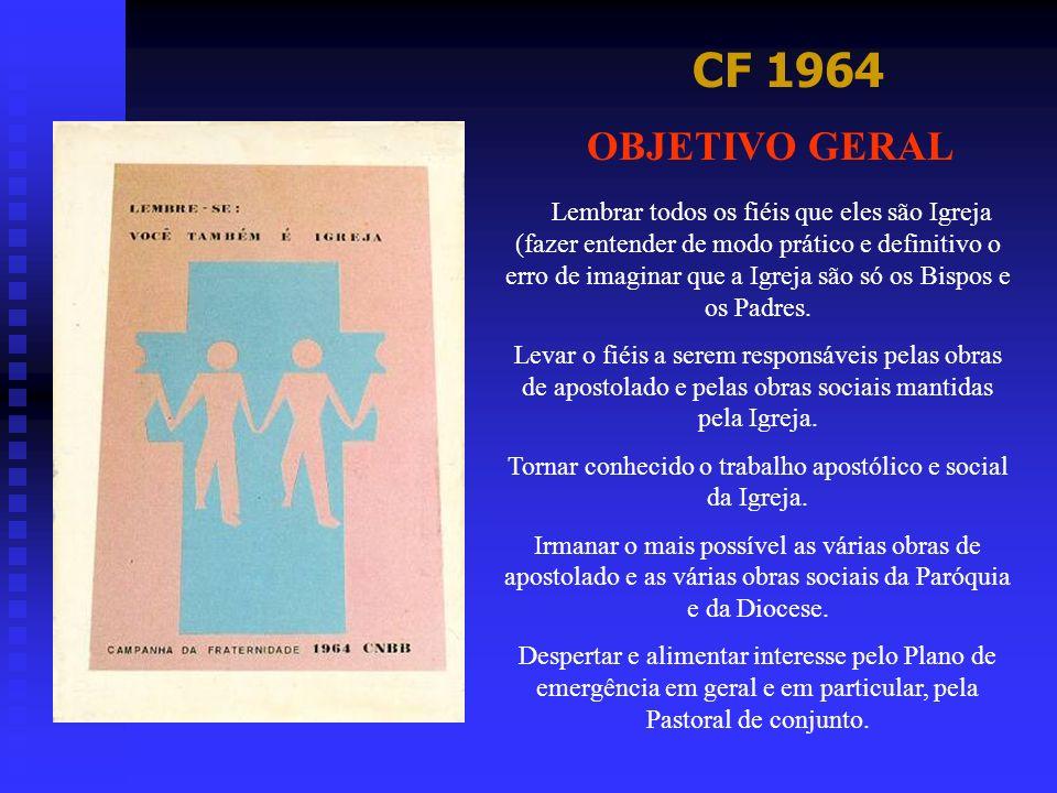 CF 1995 OBJETIVO GERAL Quer contemplar aqueles que seriam os mais abandonados, os que se sentem esquecidos, negados na sua humanidade.