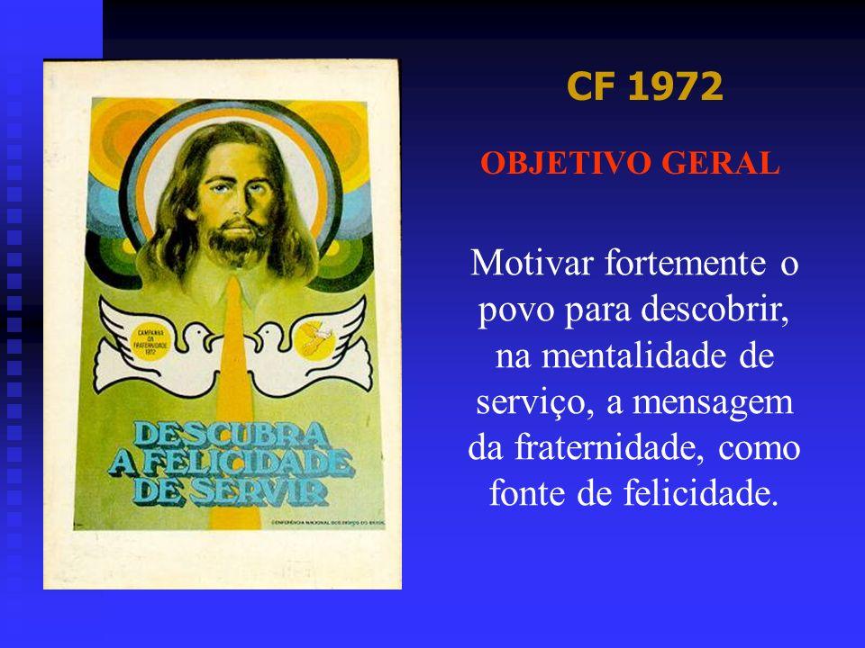 CF 1973 OBJETIVO GERAL Uma vez mais a Igreja do Brasil se apresenta para realizar sua anual Campanha da Fraternidade.
