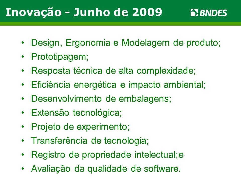 Design, Ergonomia e Modelagem de produto; Prototipagem; Resposta técnica de alta complexidade; Eficiência energética e impacto ambiental; Desenvolvime