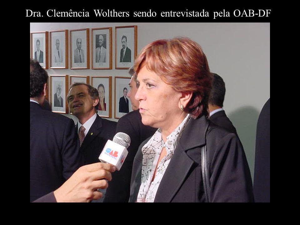 Dra. Clemência Wolthers sendo entrevistada pela OAB-DF