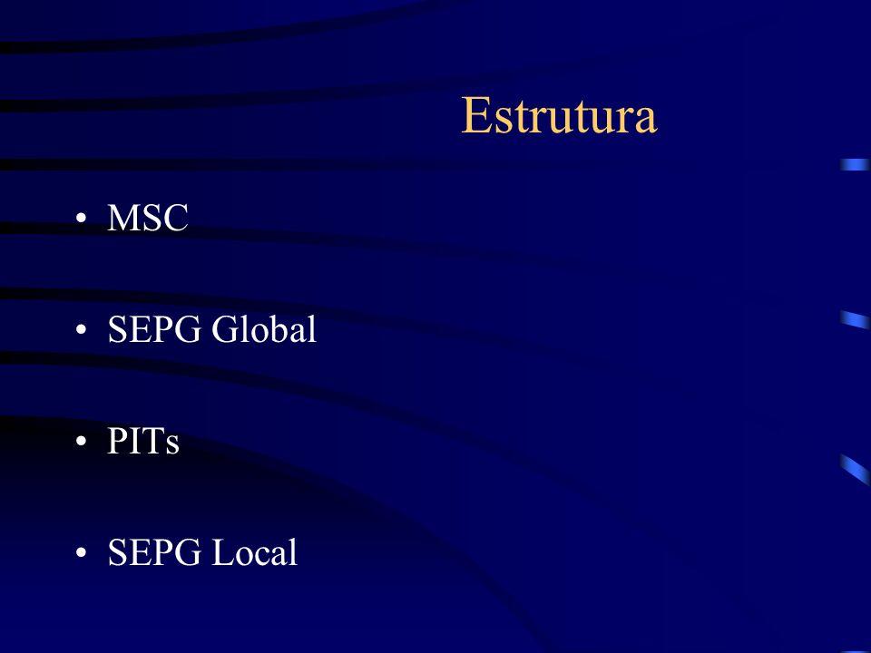 Lições aprendidas SEPG Local Compromissos Manejo de informação