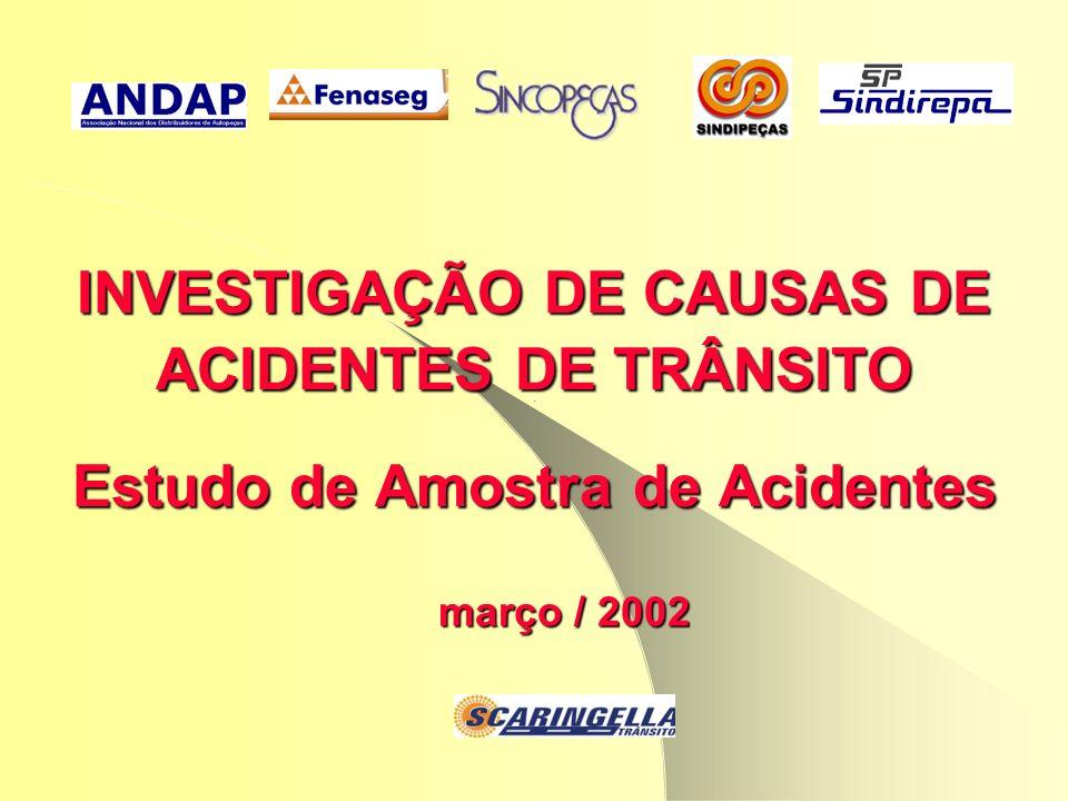 março / 2002 INVESTIGAÇÃO DE CAUSAS DE ACIDENTES DE TRÂNSITO Estudo de Amostra de Acidentes