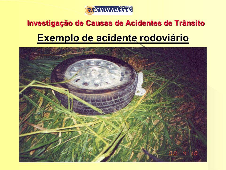 Investigação de Causas de Acidentes de Trânsito Exemplo de acidente rodoviário