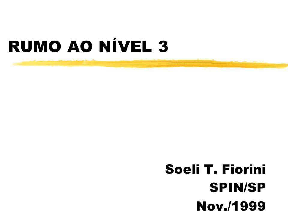 RUMO AO NÍVEL 3 Soeli T. Fiorini SPIN/SP Nov./1999