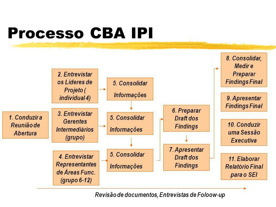 Processo CBA IPI 1.Identificar o Escopo da Avaliação 8.