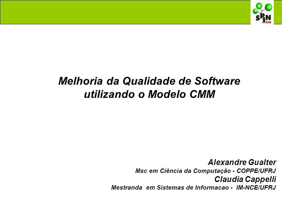 Melhoria da Qualidade de Software utilizando o Modelo CMM Alexandre Gualter Msc em Ciência da Computação - COPPE/UFRJ Claudia Cappelli Mestranda em Si