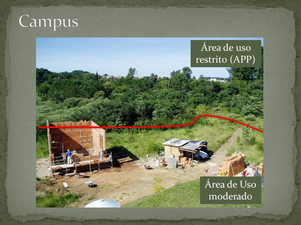 Área de Uso moderado Área de uso restrito (APP)