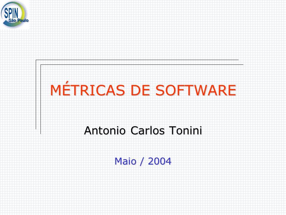 Antonio Carlos Tonini MÉTRICAS DE SOFTWARE Antonio Carlos Tonini Maio / 2004