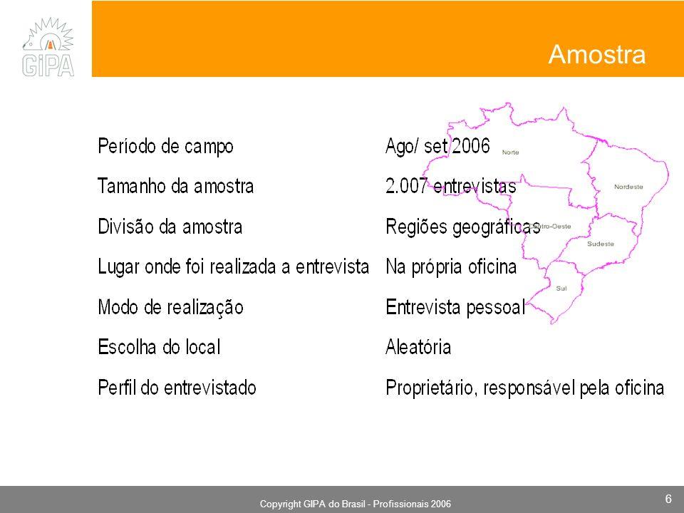 Monografia 2006 Copyright GIPA do Brasil - Profissionais 2006 6 Amostra
