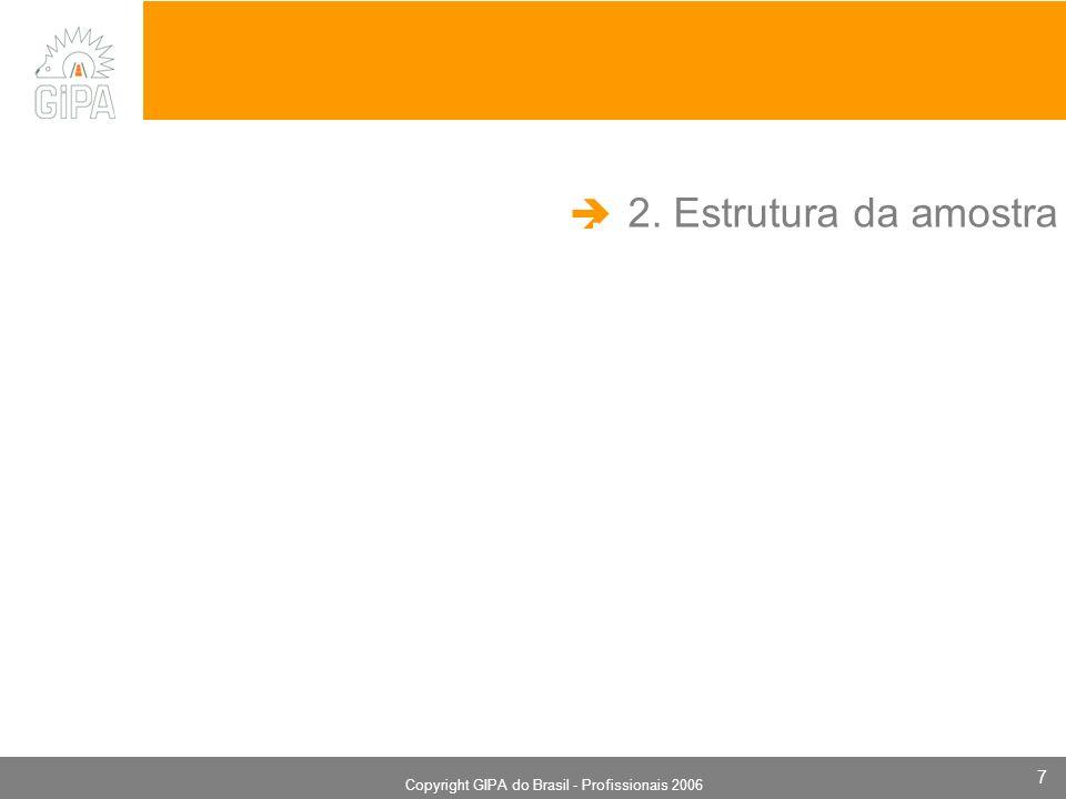 Monografia 2006 Copyright GIPA do Brasil - Profissionais 2006 7 2. Estrutura da amostra.