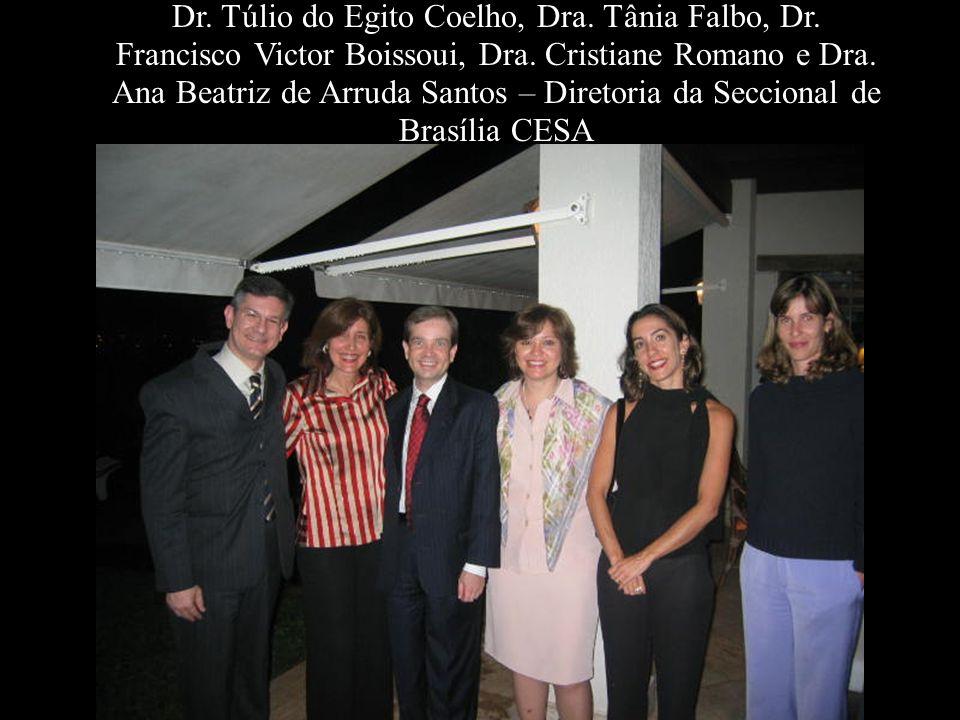 Dr. Túlio do Egito Coelho, Dra. Tânia Falbo, Dr. Francisco Victor Boissoui, Dra. Cristiane Romano e Dra. Ana Beatriz de Arruda Santos – Diretoria da S