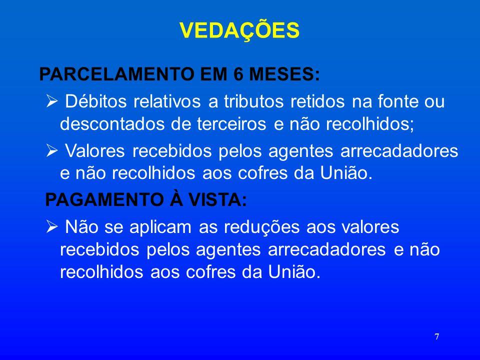 28 DÉBITOS SUJEITOS AO REFIS CONTINUAÇÃO: No caso de manifestação de inconformidade contra indeferimento de opção ou exclusão do Refis, pendente de apreciação: Solicitar a desistência até 15.09.06, através da declaração constante do Anexo II da Resolução CG/Refis n° 36, de 2006.