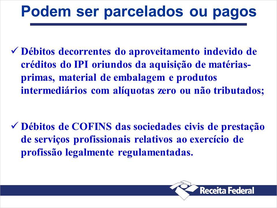 Débitos decorrentes do aproveitamento indevido de créditos do IPI oriundos da aquisição de matérias- primas, material de embalagem e produtos intermed